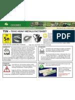 Tin Toxic Heavy Metals Fact Sheet
