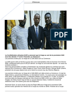 Tirage CAN 2022 Didier Zokora Et Asamoah Gyan Sont Au Cameroun