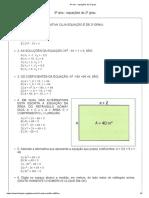 9º ano - equações do 2º grau_