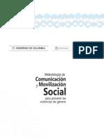 Metodologia Comunicacion Movilizacion Violencia Genero