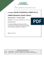 Procédure d'installation LANSA