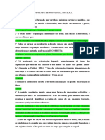 ATIVIDADE DE FISIOLOGIA HUMANA - UFMA