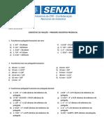 SA 1 - Anexo 1 - Exercicios de fixacao sobre transformacao de unidades (1)