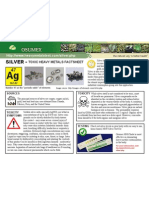Silver Toxic Heavy Metals Fact Sheet
