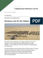 Russland und Afghanistan Moskaus Lob für die Taliban