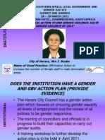 Institutional Presentation _Harare_ Josephine Ncube