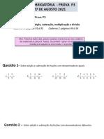 Slide Lista Obrigatoria P3 27Agosto 6 Ano