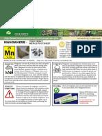 Manganese Toxic Heavy Metals Fact Sheet