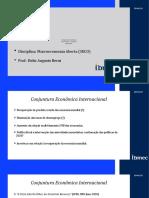 Conjuntura Econômica Internacional - Macro Aberta