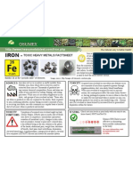 Iron Toxic Heavy Metals Fact Sheet