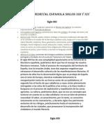 Literatura Medieval Espanola Siglos Xiii y Xiv