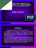 EXPOSICIÓN EL PREAVISO LOTTT