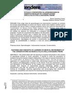 Características e Concepções Da Aprendizagem de Instrumentos Musicais No Conservatório de Música d'Alva Stella Nogueira Freire