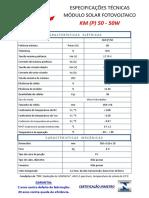 Datasheet KM(P)50