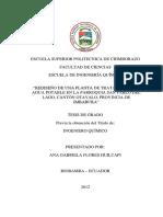 PLANTA DE TRATAMIENTO DE AGUA POTABLE SAN PABLO