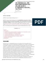 A contabilidade gerencial em Micro e Pequenas Empresas no Brasil