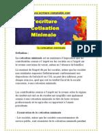 ecriture comptable cotisation minimale