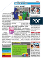 Jornal do Trem - Reciclando Lixo, Reciclando hábitos