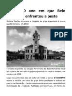 1918 - O ano em que Belo Horizonte enfrentou a peste