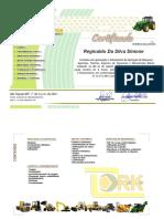 Certificado De Máquinas Agrícolas Trator - Reginaldo Da Silva Simone 2021