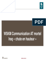 WSKM  accident mortel Iraq chute en hauteur