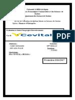 Evaluation Et Choix d'Un Projet d'Investissement