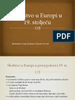 Školstvo u Europi u 19. st.