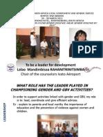 Leadership Lalao RAHANITRINITSIMBA Power Point