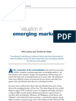 Valuation in emerging market