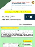 15.1 Sesión N° 15 Rocas metamórficas lepidoblásticas