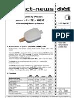 XH10 - XH25 sonda temperatura umiditate dixell