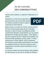 Evaluación de Entrada HABILIDADES COMUNICATIVAS Universidad Continental