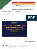 Posicionamento Público - O Brasil está distante de um novo Fundeb capaz de consagrar o direito à educação _ CNDE