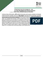 UPA FORTALEZA PROMUNICIPIO 231016 RESULTADO PRELIMINAR