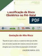 Slides - Classificação de Risco Obstétrico no Pré-Natal