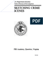 FBI Sketching Crime Scene (Diagramming)