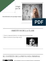 Historia y Campos de Acción de La Psicologia Forense y Ctiminal