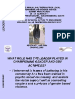 Gerry Chama Leadership Councelling and Advocacy Ajw 14030211[1]