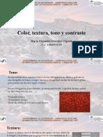 Color, tono textura y contraste