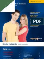 Informator 2011 - Studia I stopnia - Wyższa Szkoła Bankowa we Wrocławiu