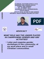 Theresa Lesa- Luanshya Municipal Council- Zambia