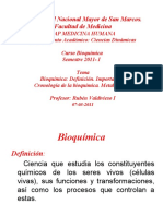 1ra Clase Bioq MH 2011