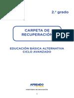 Experiencia 2-2do grado-Avanzado-EBA-Carpeta de recuperación