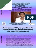 Leadership Presentation Victoria Falls Patricia Muchekesi