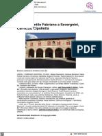 Premio Gentile da Fabriano a Severgnini, Carrozza e Cipolletta - Ansa.it, 18 agosto 2021