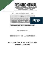 Ley de Educación Intercultural