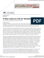 A New Lease on Life for Humanitarianism
