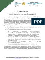 communique vague de chaleur et records 17-08-2021 FR