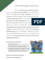 Modelo de Comentario de Texto adaptado y Pautas para su resolución