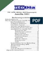 AutoDia S101 Bedienungsanleitung